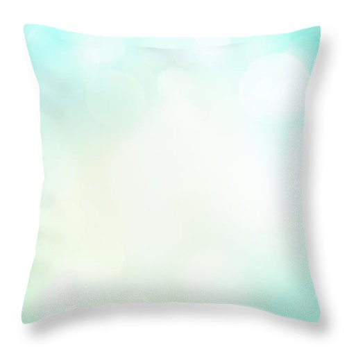 Particle Throw Pillow featuring the photograph Abstract Background With Defocused by Jasmina007