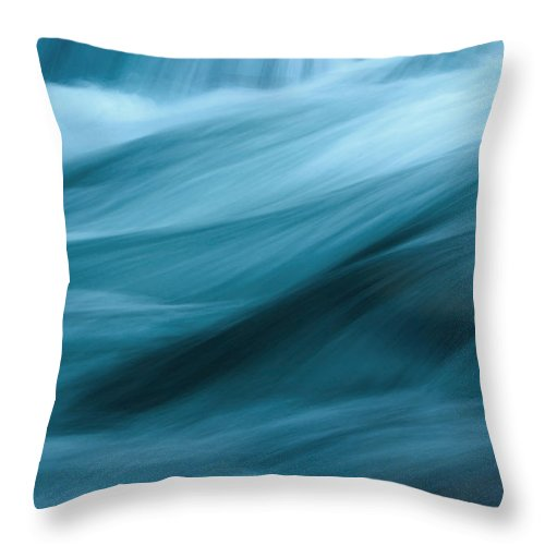 Abstract Flowing Water Throw Pillow For Sale By Wweagle