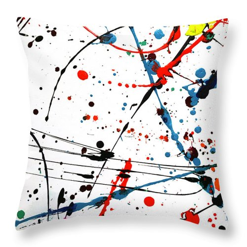 Abstract Throw Pillow featuring the photograph Abstract Pollock Look by Marilyn Hunt