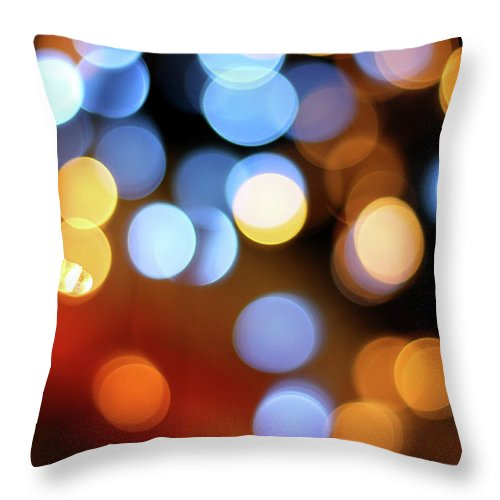 Outdoors Throw Pillow featuring the photograph Abstract Spotted Color Pattern Dot Of by Hidehiro Kigawa