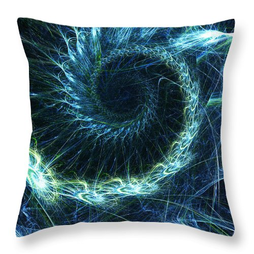 Curve Throw Pillow featuring the photograph Abstract Swirl Pattern by Duncan1890