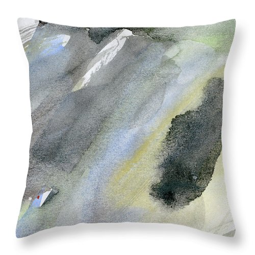 Gouache Throw Pillow featuring the digital art Abstract Watercolor Painted by Petekarici