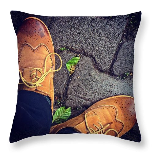 Shoes Throw Pillow featuring the photograph Afternoon delight by Mark Ddamulira