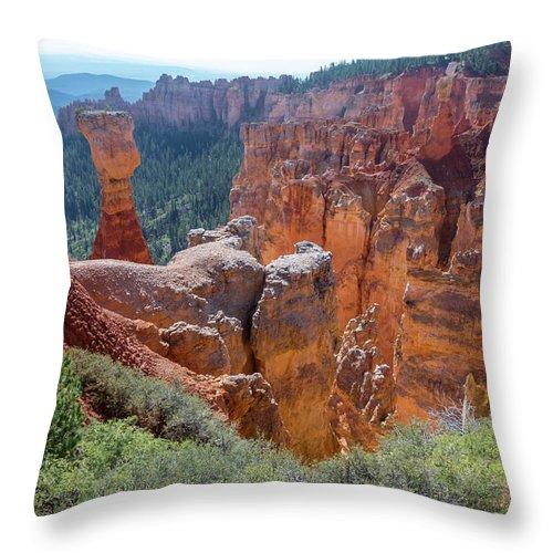 Agua Canyon Throw Pillow featuring the photograph Agua Canyon - Bryce Canyon - Utah by Debra Martz