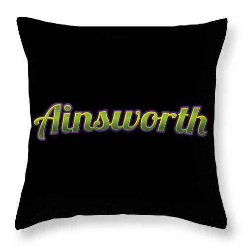 Ainsworth Throw Pillow featuring the digital art Ainsworth #ainsworth by TintoDesigns