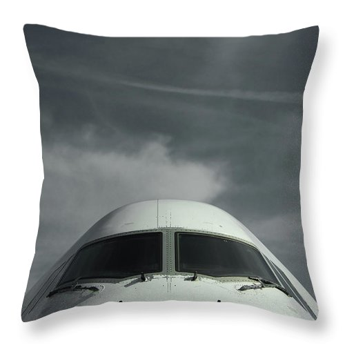 Tranquility Throw Pillow featuring the photograph Aircraft by Laurent Chantegros