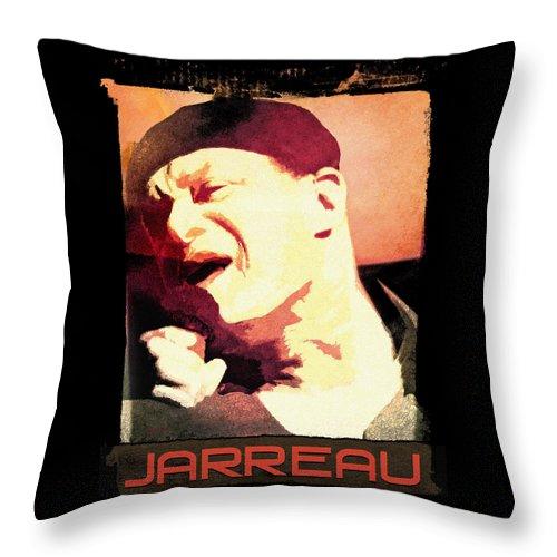 Throw Pillow featuring the digital art Al Jarreau by Regina Wyatt