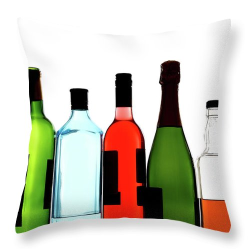 Alcohol Throw Pillow featuring the photograph Alcohol by Mattjeacock