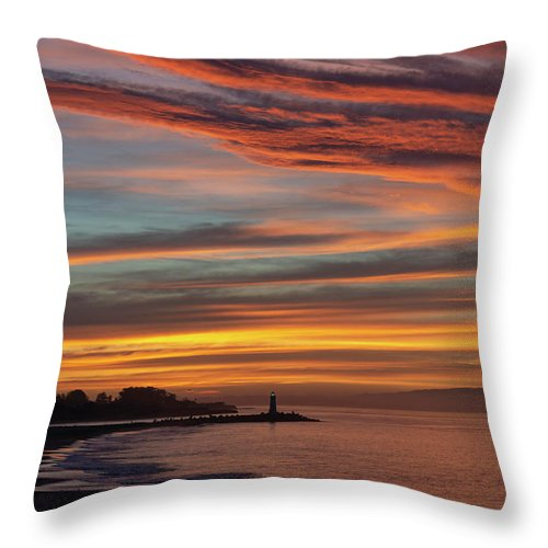 Sunrise Throw Pillow featuring the photograph All Saints Day Sunrise by Bruce Frye