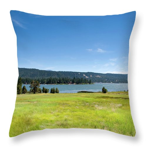 Scenics Throw Pillow featuring the photograph Alpine Mountian Lake And Meadow by Alynst
