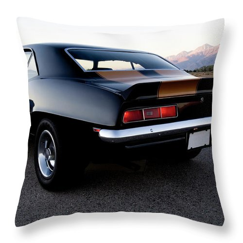 Drag Racing Throw Pillow featuring the photograph American Muscle Car by Sierrarat