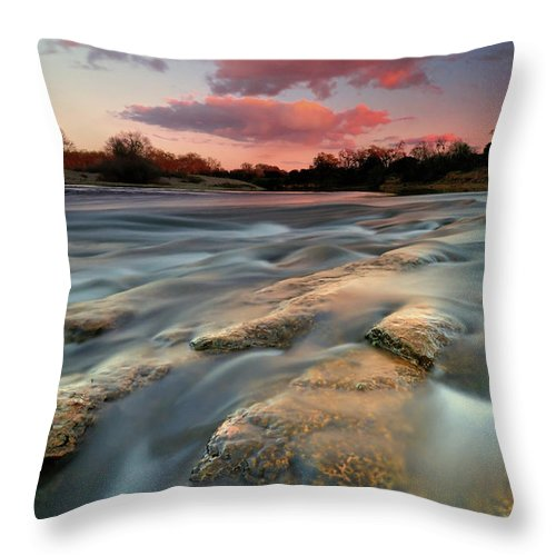 Scenics Throw Pillow featuring the photograph American River Parkway At Sunset by David Kiene