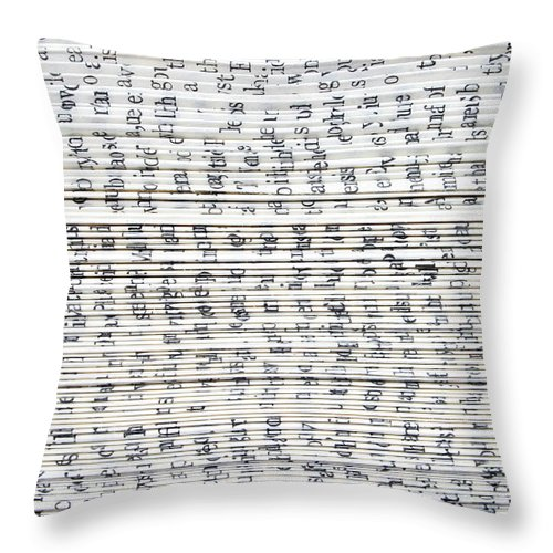 Information Medium Throw Pillow featuring the photograph Ancient Paper Book by Valerie Loiseleux