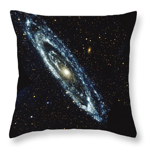 Outdoors Throw Pillow featuring the photograph Andromeda Galaxy by Stocktrek