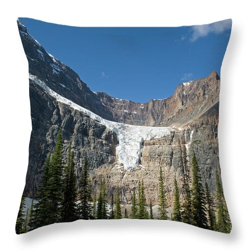 Scenics Throw Pillow featuring the photograph Angel Glacier by Jim Julien / Design Pics