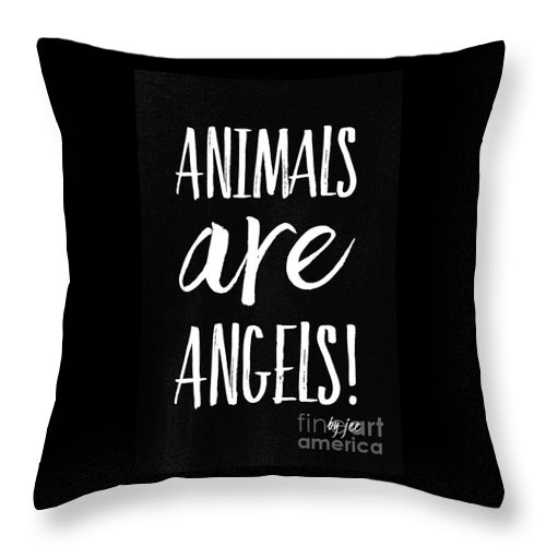 Animals Throw Pillow featuring the digital art Animals Are Angels by Fashion FotogEvita