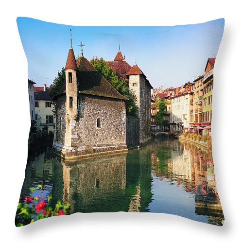Town Throw Pillow featuring the photograph Annecy, Savoie, France by Robertharding
