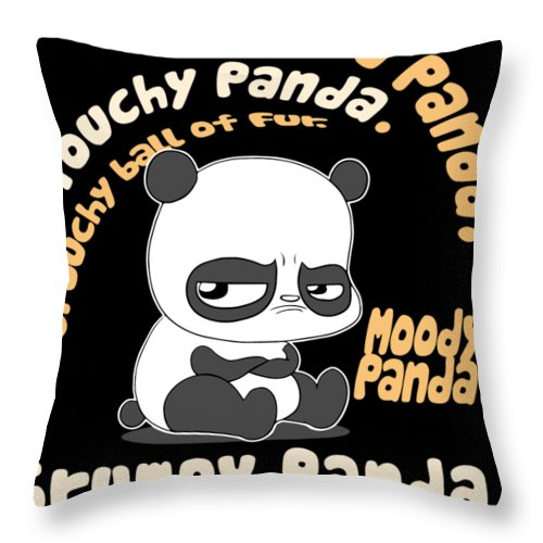 Papa Throw Pillow featuring the digital art Annoyed Papa by Noah Hallstrom