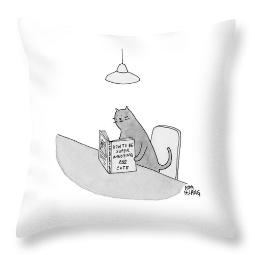 Annoying and Cute Throw Pillow