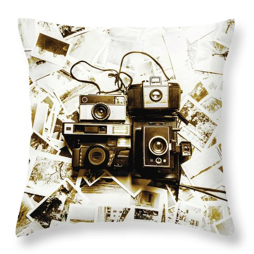 Antique Throw Pillow featuring the photograph Antique Albums by Jorgo Photography - Wall Art Gallery
