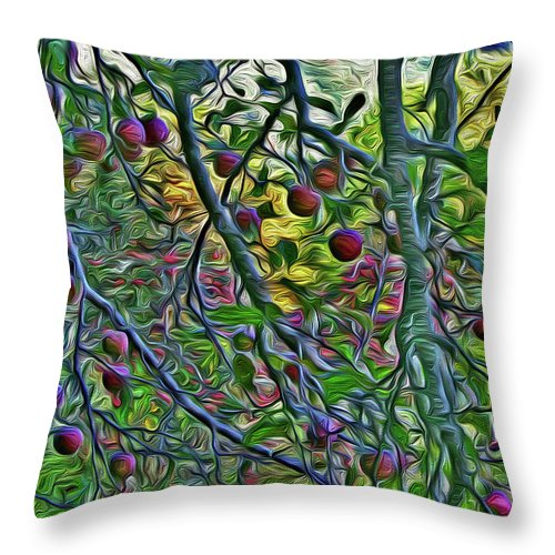 Altapass Orchard Throw Pillow featuring the photograph Apples At Altapass by SL Ernst