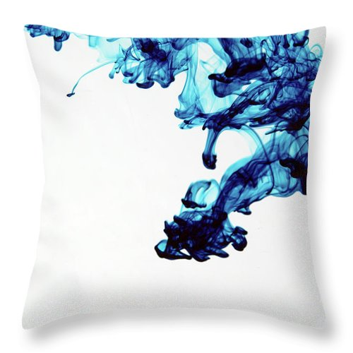 Mixing Throw Pillow featuring the photograph Aqua Art 1 Of 5 by Bpalmer