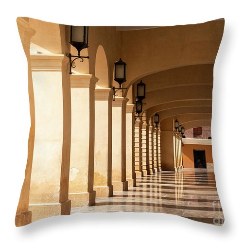 Mexico Throw Pillow featuring the photograph Architecture In San Cristobal De Las Casas Mexico by Tim Hester