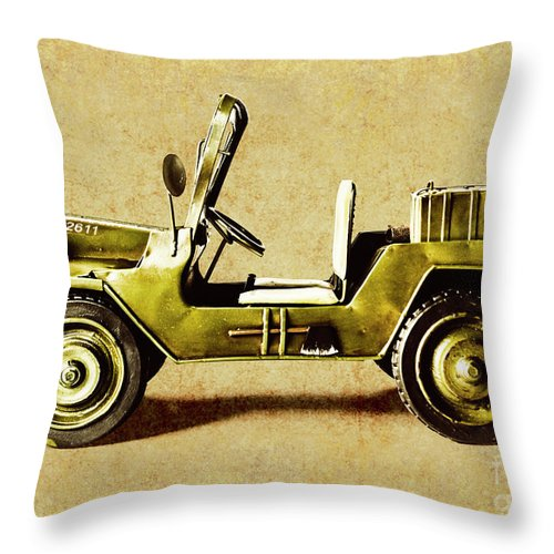 Army Throw Pillow featuring the photograph Army Jeep by Jorgo Photography - Wall Art Gallery