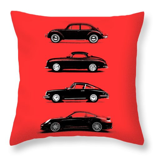 Porsche Throw Pillow featuring the photograph Evolution by Mark Rogan