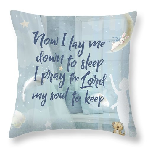 Nursery Throw Pillow featuring the digital art Soul To Keep by Claire Tingen