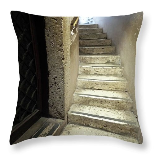 Stone Staircase Throw Pillow featuring the photograph Ascend by Royce A Owens