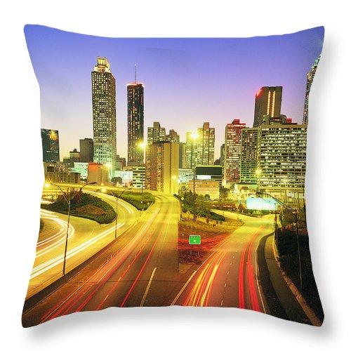 Atlanta Throw Pillow featuring the photograph Atlanta Skyline, Georgia, Usa by Travel Ink