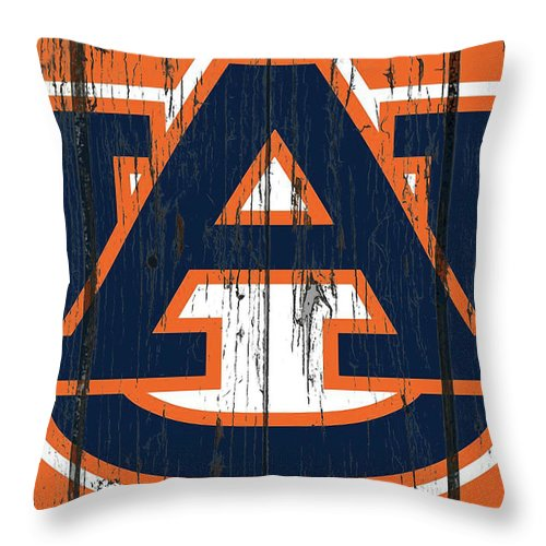 Auburn Tigers Throw Pillow featuring the mixed media Auburn Tigers 1c by Brian Reaves