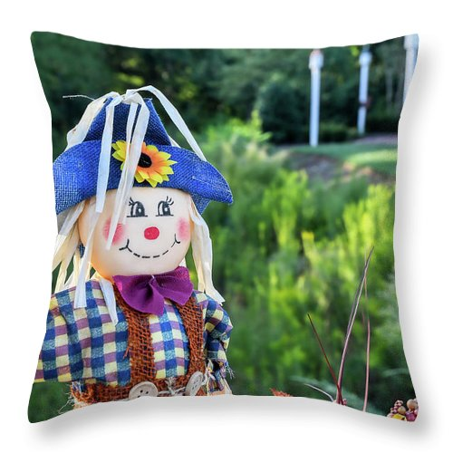 Baileys Glen Throw Pillow featuring the photograph Autumn Happiness by Amy Dundon