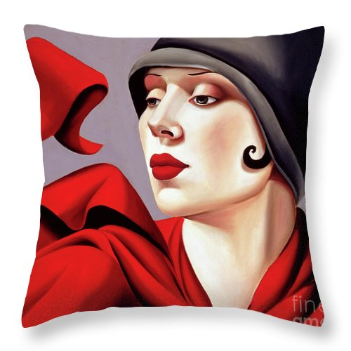 30s Throw Pillow featuring the painting Autumn Zephyr by Catherine Abel