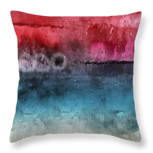 Abstract Throw Pillow featuring the painting Awakened 4- Abstract Art by Linda Woods by Linda Woods