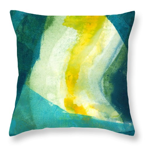 Abstract Throw Pillow featuring the painting Back by Claire Desjardins