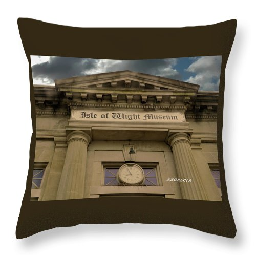 Museums Throw Pillow featuring the photograph Back To The Future by Angelcia Wright