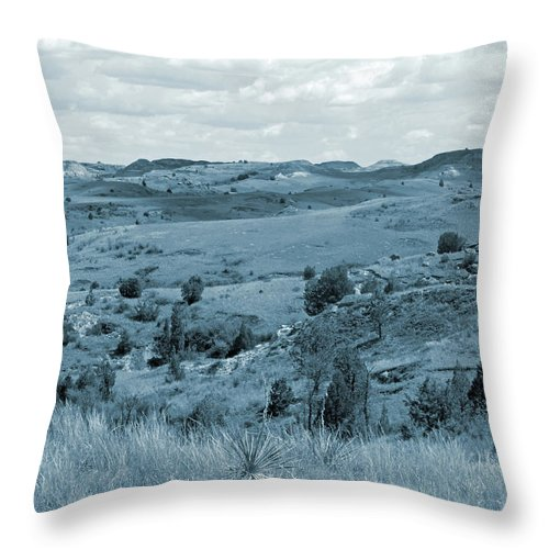 North Dakota Throw Pillow featuring the photograph Badlands Cloud Shadows by Cris Fulton