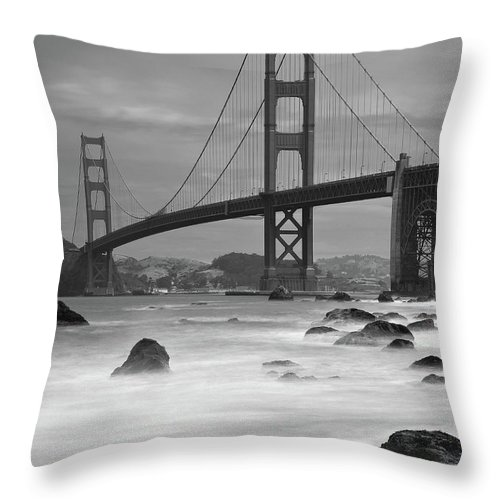 Tranquility Throw Pillow featuring the photograph Baker Beach Impressions by Sebastian Schlueter (sibbiblue)