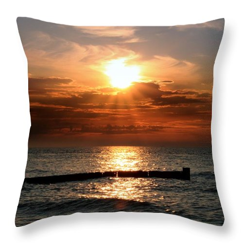 Tranquility Throw Pillow featuring the photograph Baltic Sunset by © Jan Zwilling