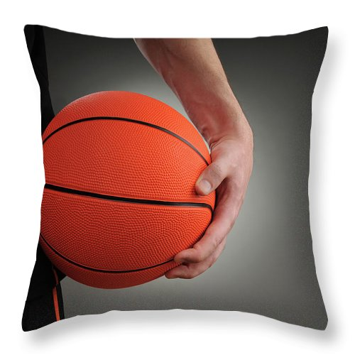 People Throw Pillow featuring the photograph Basketball Player by Mumininan