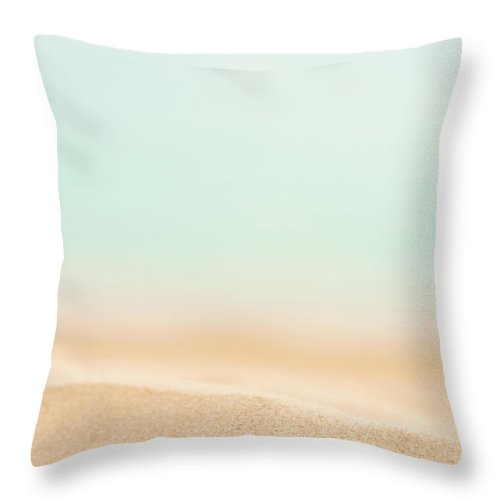 Water's Edge Throw Pillow featuring the photograph Beach Sand by Anneleven
