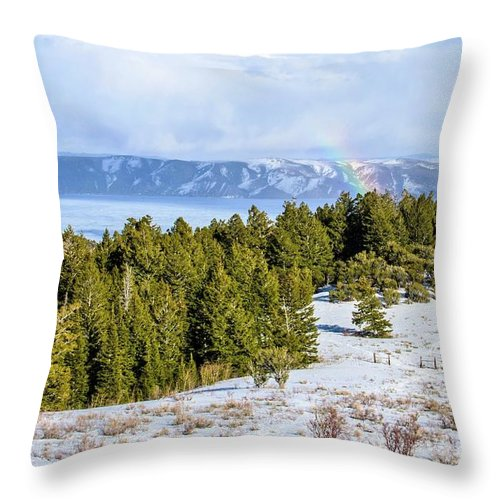 Tranquility Throw Pillow featuring the photograph Bear Lake Scenic Byway by ©anitaburke