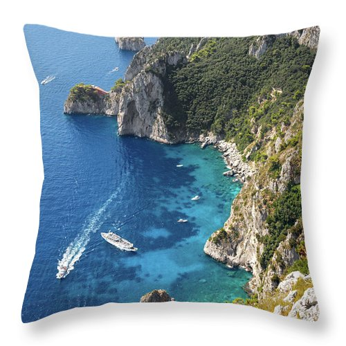 Scenics Throw Pillow featuring the photograph Beautiful Capris Sea by Pierpaolo Paldino