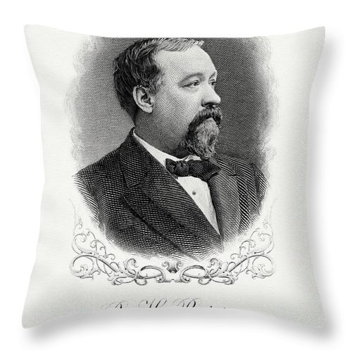 Benjamin Bristow Throw Pillow featuring the painting Benjamin Bristow by The Bureau of Engraving and Printing