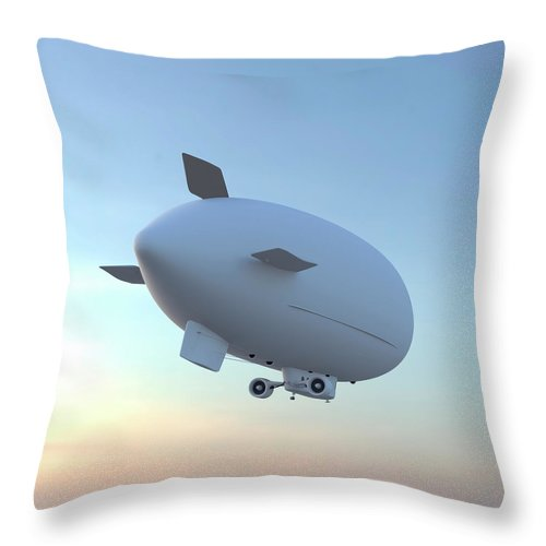 Wind Throw Pillow featuring the photograph Blimp by Luismmolina