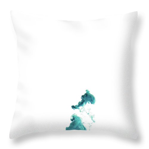 Blue Throw Pillow featuring the photograph Blobs Abstract by Eugene Campbell