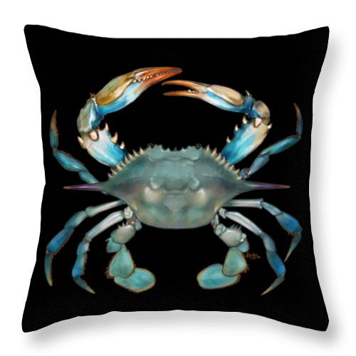Blue Crab Throw Pillow For Sale By Trevor Irvin