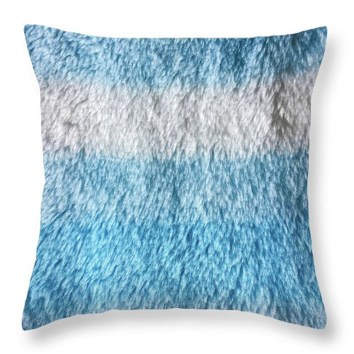 Abstract Throw Pillow featuring the photograph Blue Fleece Background by Tom Gowanlock